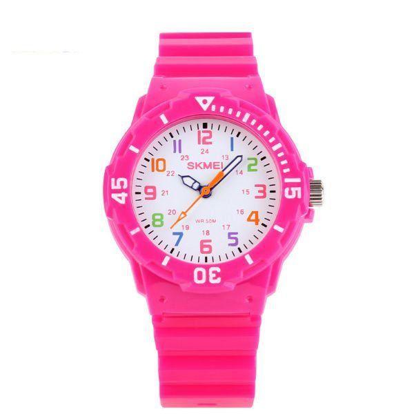 Relógio Infantil Skmei Analógico 1043 Rosa