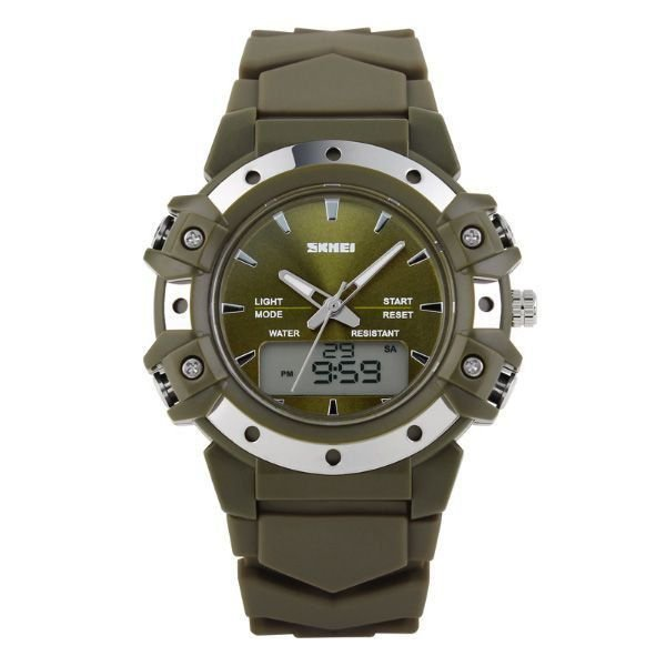 Relógio Masculino Skmei Anadigi 0821 Verde