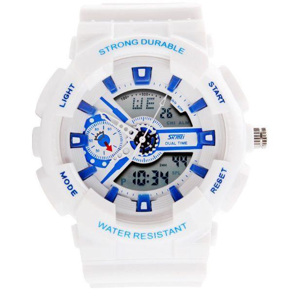 Relógio Masculino Skmei Anadigi 0929 Branco