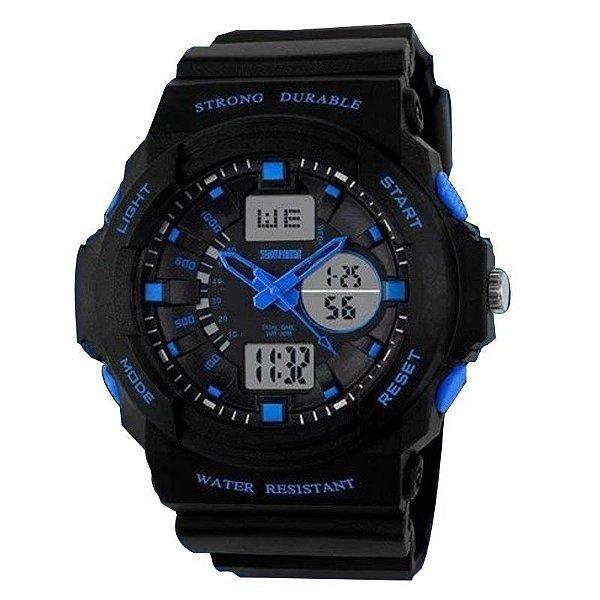 Relógio Skmei Anadigi 0955 Preto e Azul