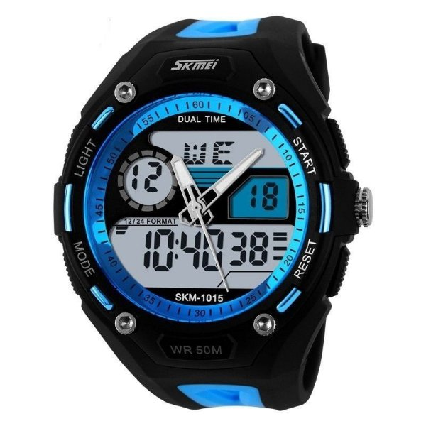 Relógio Skmei Anadigi 1015 Preto e Azul