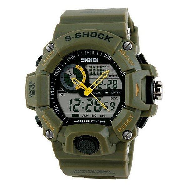 Relógio Skmei Anadigi 1029 Verde