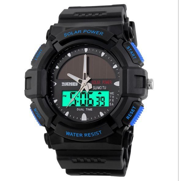 Relógio Masculino Skmei Anadigi 1050 Preto e Azul