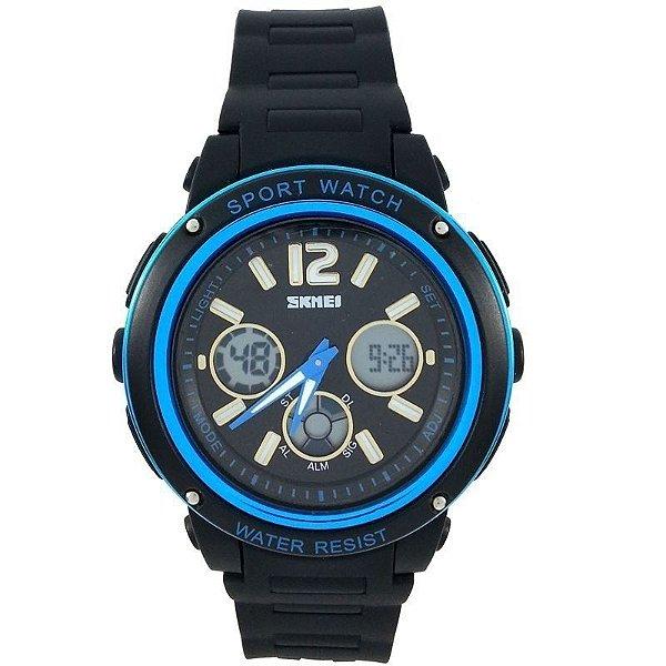 Relógio Skmei Anadigi 1051 Preto e Azul