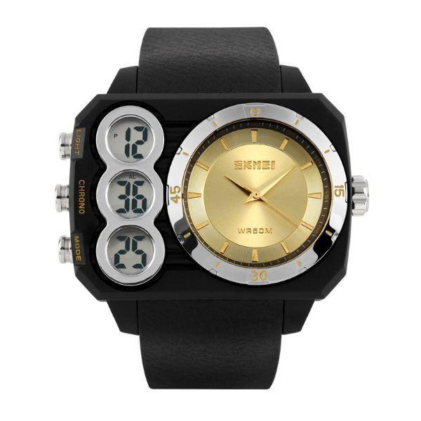 Relógio Masculino Skmei Anadigi 1090 Dourado