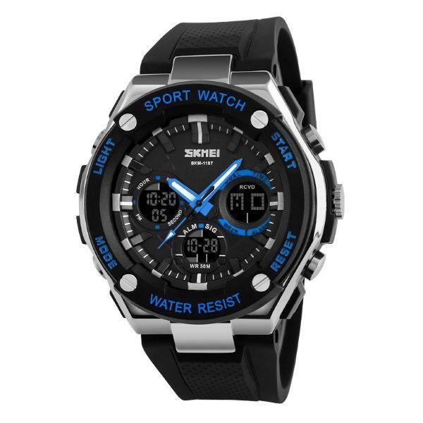 Relógio Masculino Skmei Anadigi 1187 Azul