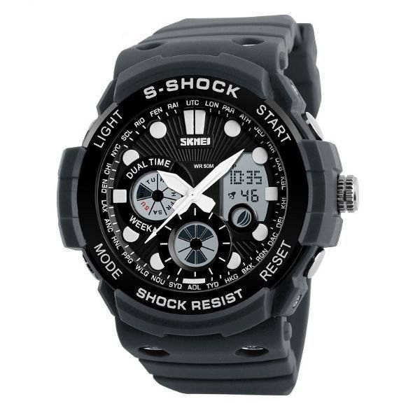 Relógio Masculino Skmei Anadigi 1205 Cinza