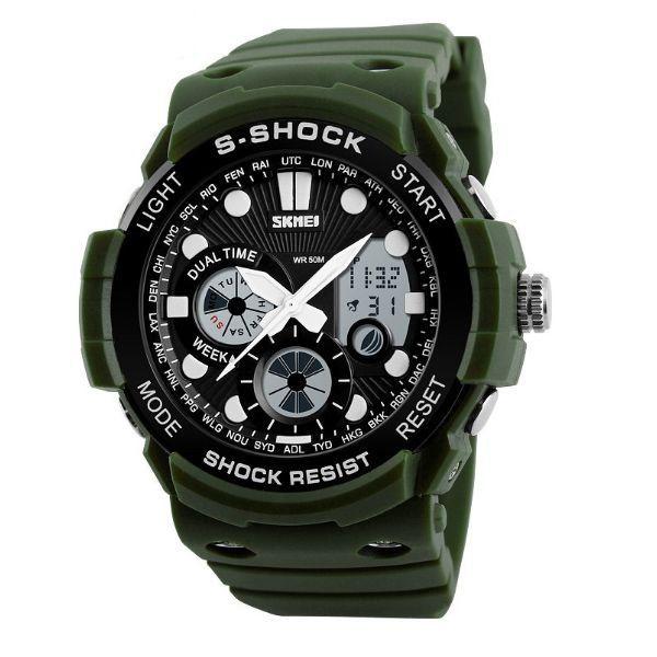 Relógio Masculino Skmei Anadigi 1205 Verde