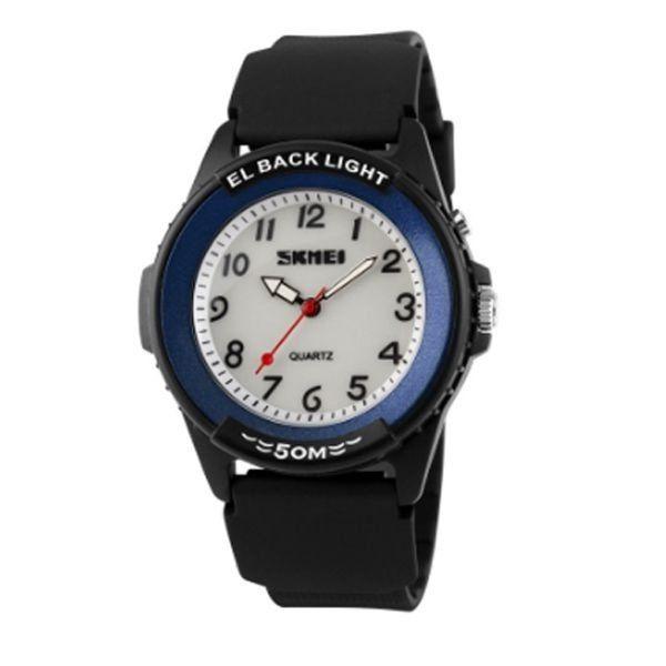 Relógio Masculino Skmei Analógico 0887 Preto e Azul