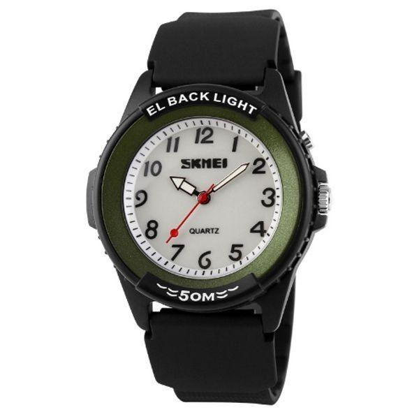 Relógio Masculino Skmei Analógico 0887 Preto e Verde
