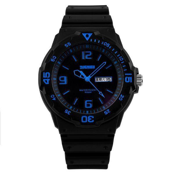 Relógio Masculino Skmei Analógico 1045 Preto e Azul