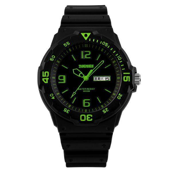 Relógio Masculino Skmei Analógico 1045 Preto e Verde