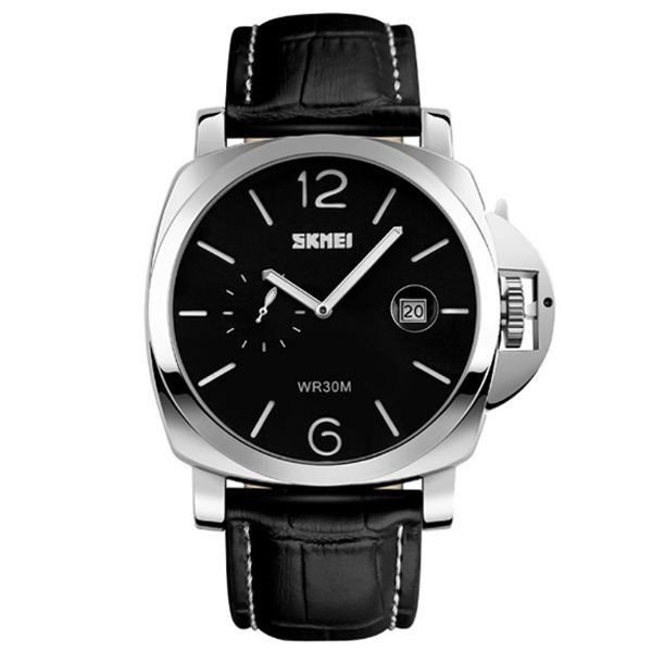 Relógio Masculino Skmei Analógico 1124 Preto e Branco