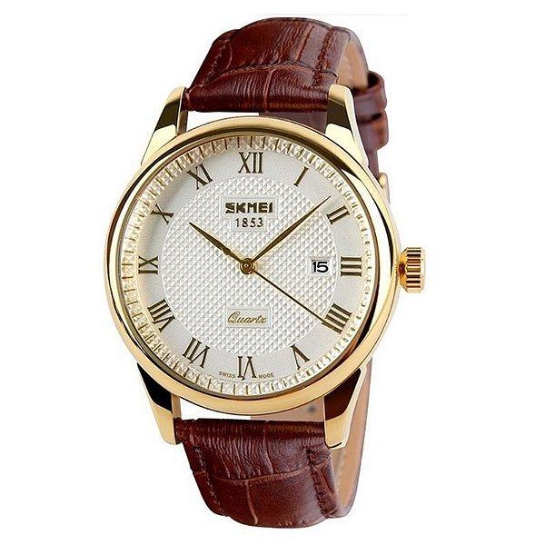 Relógio Skmei Analógico 9058 Dourado