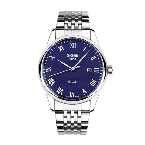 Relógio Masculino Skmei Analógico 9058 Prata e Azul