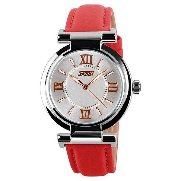 Relógio Masculino Skmei Analógico 9075 Vermelho