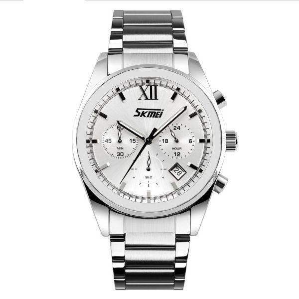 Relógio Masculino Skmei Analógico 9096 - Prata