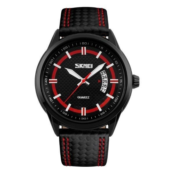 Relógio Masculino Skmei Analógico 9116 - Preto e Vermelho