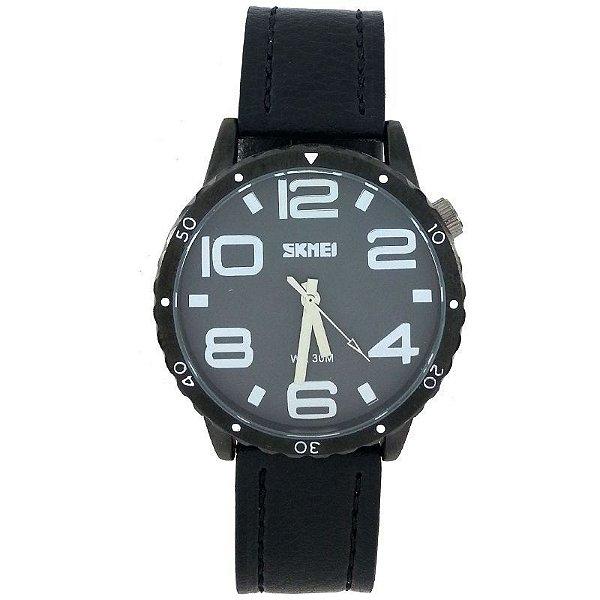 Relógio Masculino Skmei Analógico 91-761 Preto e Cinza