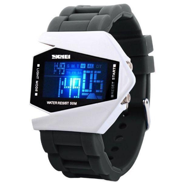 Relógio Masculino Skmei Digital 0817 Cinza e Branco