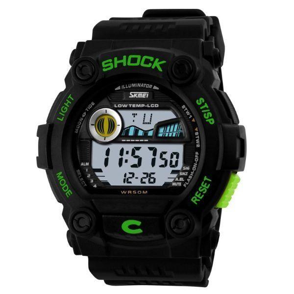 Relógio Masculino Skmei Digital 0907 Preto e Verde