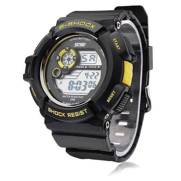Relógio Skmei Digital 0939 Preto e Amarelo