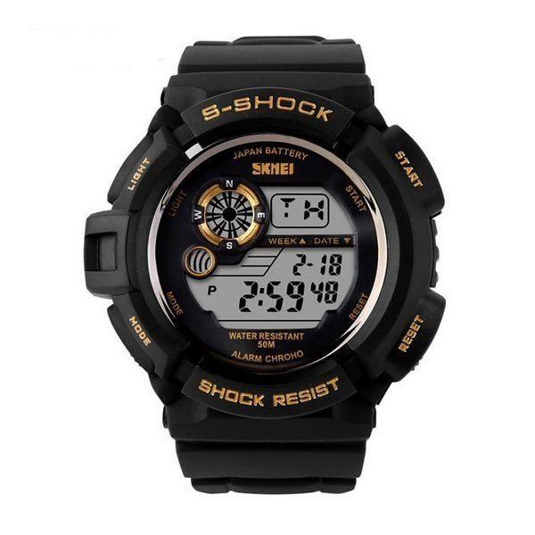 Relógio Skmei Digital 0939 Preto e Dourado