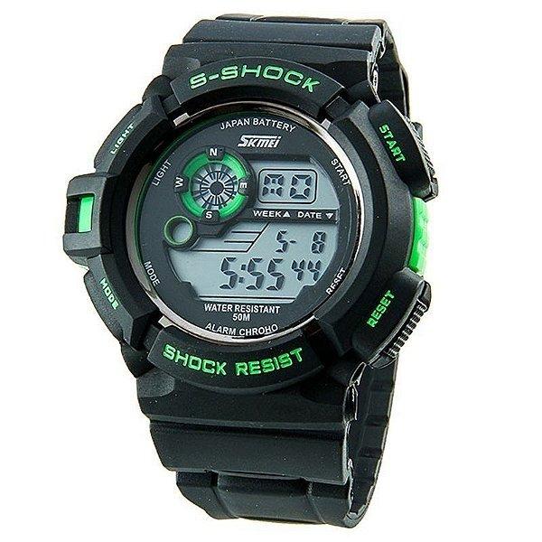 Relógio Skmei Digital 0939 Preto e Verde