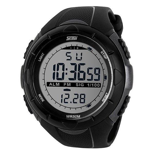 Relógio Masculino Skmei Digital 1025 Preto e Cinza