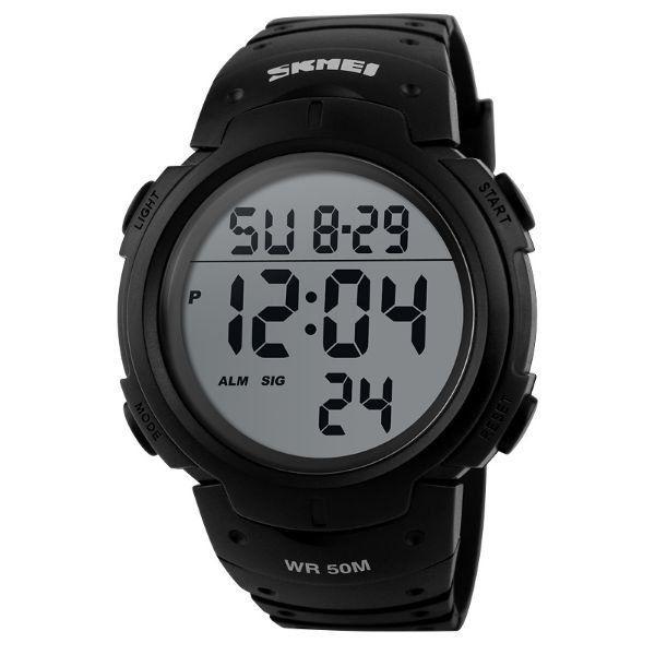 Relógio Masculino Skmei Digital 1068 Preto e Cinza