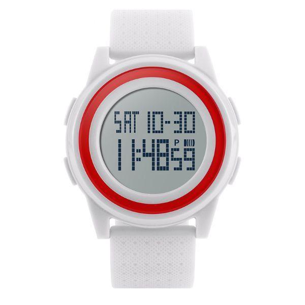 Relógio Unissex Skmei Digital 1206 - Branco e Vermelho