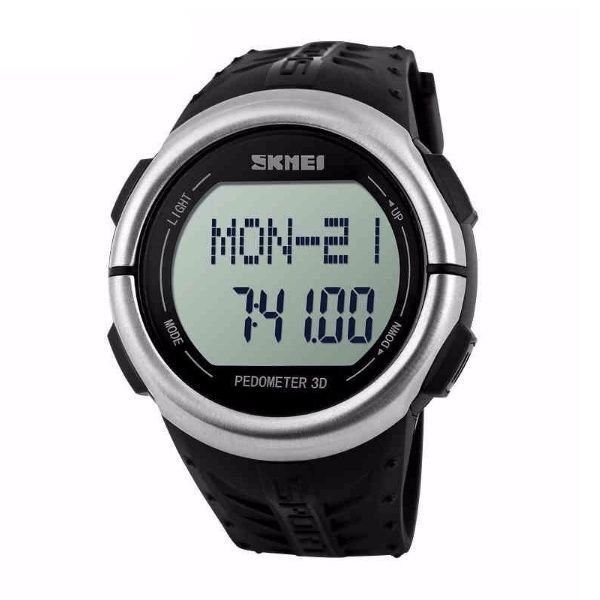 Relógio Pedômetro Masculino Skmei Digital 1058 Preto