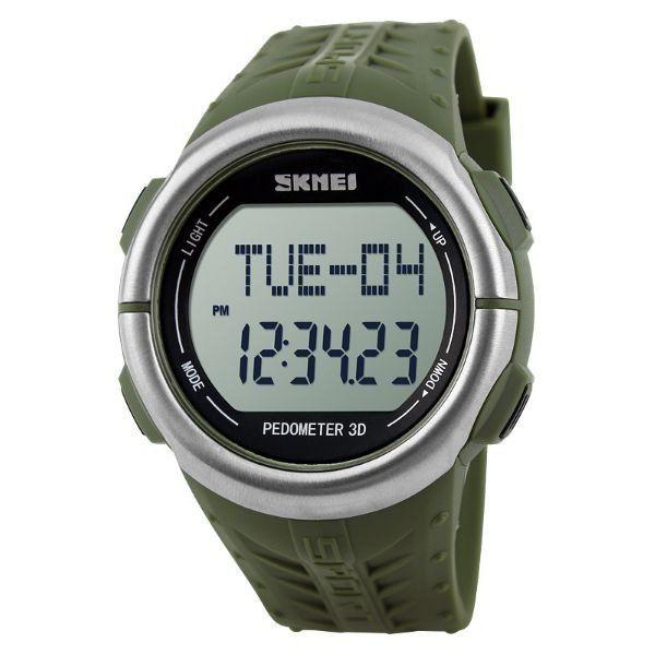 Relógio Pedômetro Masculino Skmei Digital 1058 Verde