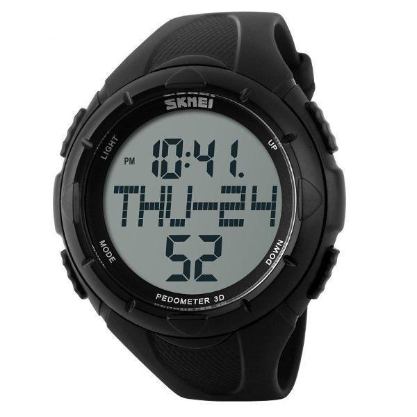 Relógio Pedômetro Masculino Skmei Digital 1122 Preto