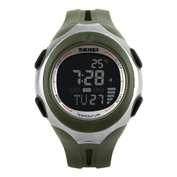 Relógio Masculino Skmei Digital Termômetro 1080 Verde