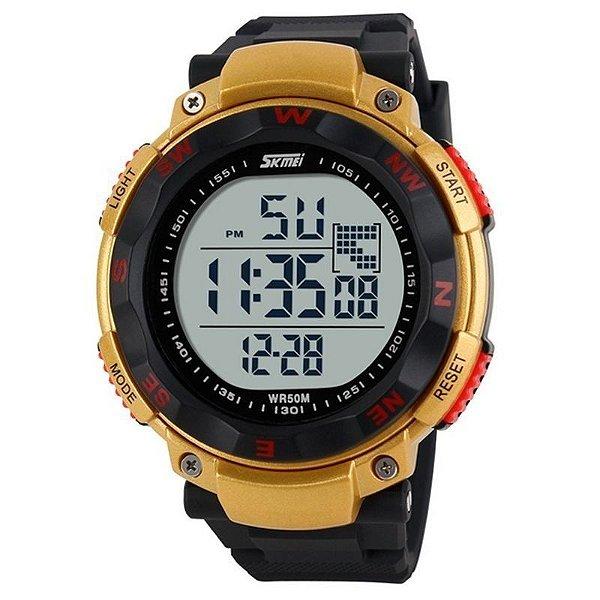 Relógio Masculino Skmei Digital 1024 Preto e Dourado