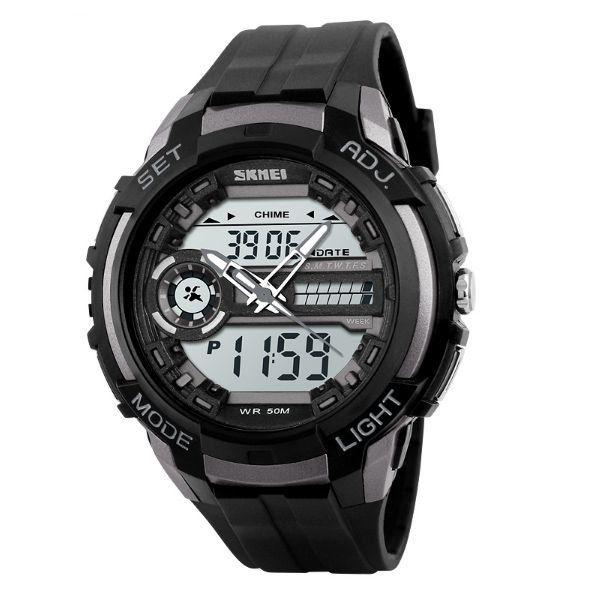 Relógio Masculino Skmei Anadigi 1202 Cinza