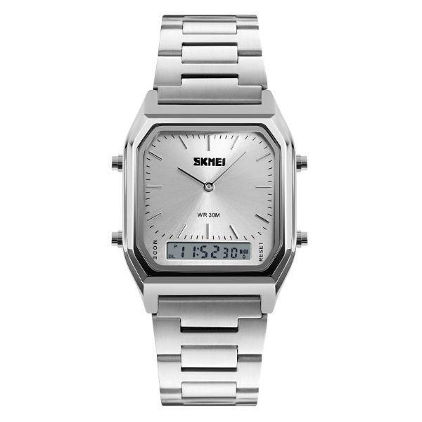 Relógio Masculino Skmei Anadigi 1220 Prata