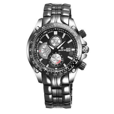 Relógio Masculino Skone Analógico Preto - 7384BG (Submostradores Ilustrativo)