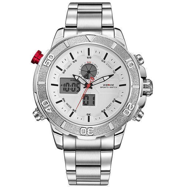 Relógio Masculino Weide Anadigi WH-6108 Branco
