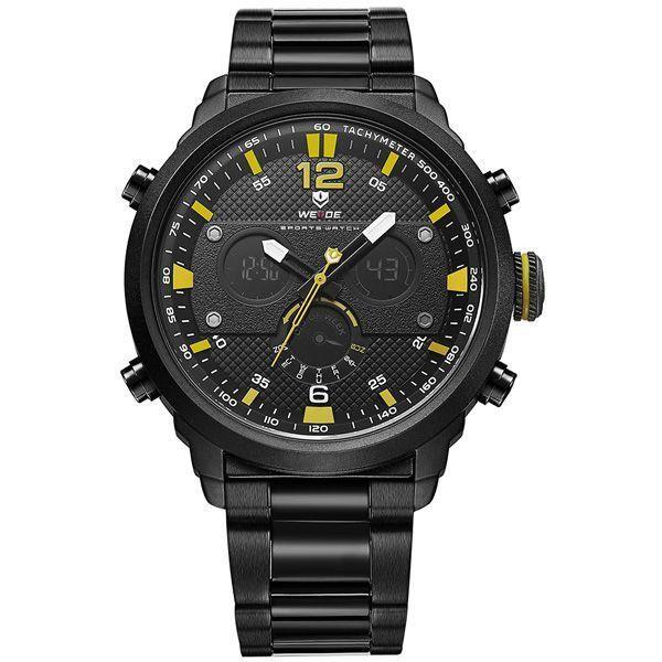 Relógio Masculino Weide Anadigi WH-6303 Amarelo