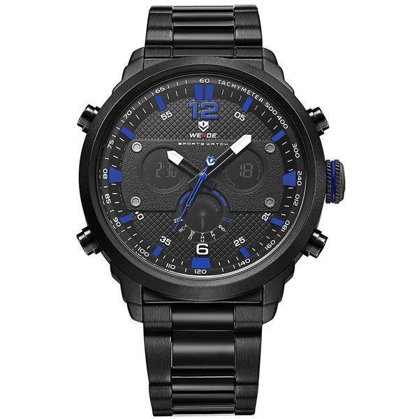 Relógio Masculino Weide Anadigi WH-6303 Azul