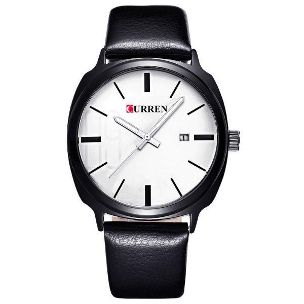 Relógio Masculino Curren Analógico 8212 Branco