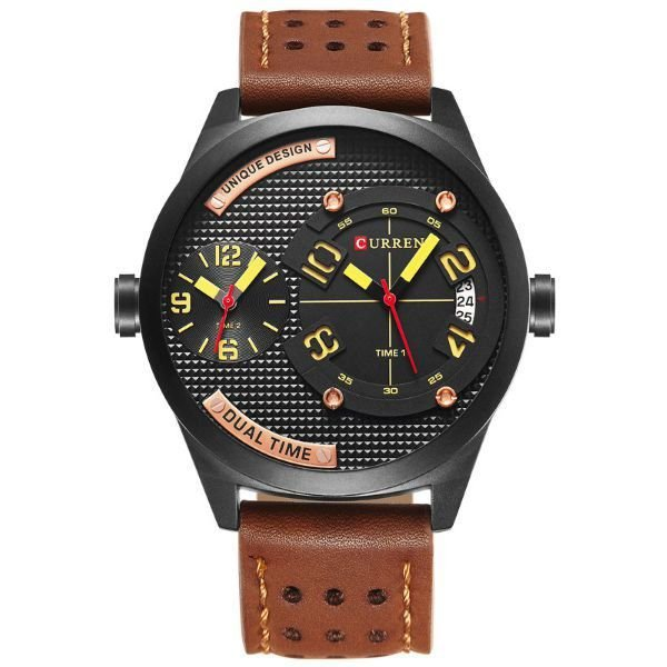 Relógio Masculino Curren Analógico 8252 Marrom