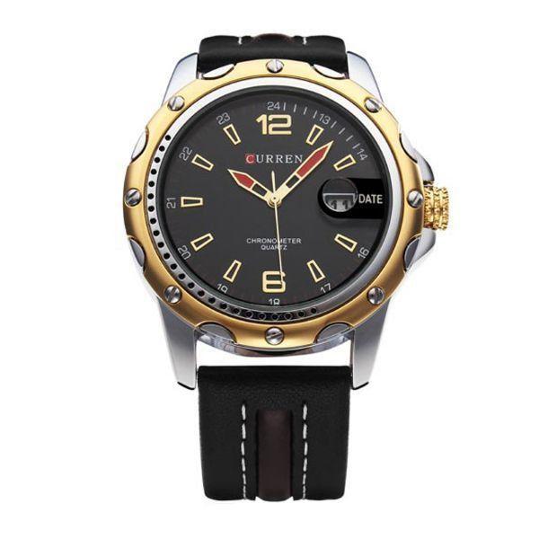 Relógio Masculino Curren Analógico 8104 Preto