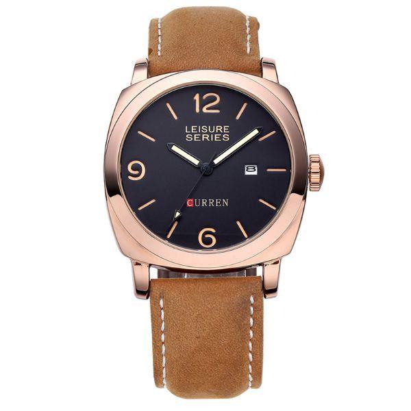 Relógio Curren Analógico 8158 Bronze
