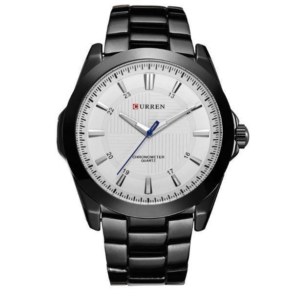 Relógio Masculino Curren Analógico 8109 - Preto e Branco