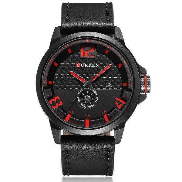 Relógio Masculino Curren Analógico 8253 Vermelho