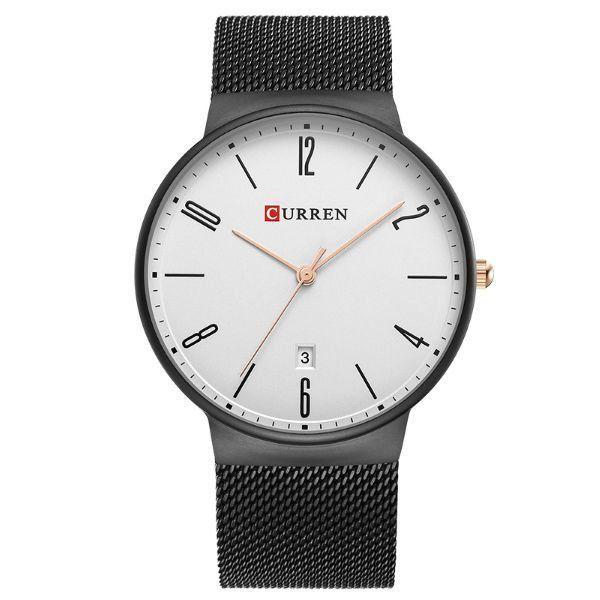 Relógio Masculino Curren Analógico 8257 Branco e Preto