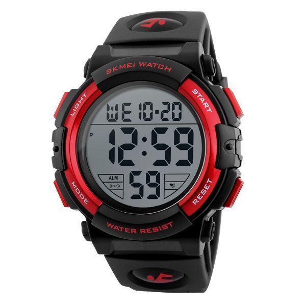 Relógio Masculino Skmei Digital 1258 - Preto e Vermelho